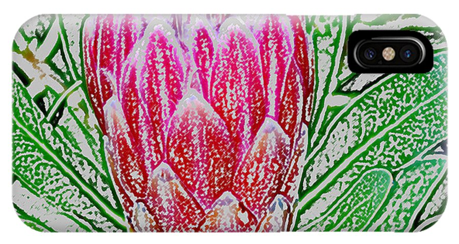 Photoshop IPhone X Case featuring the photograph Protea Blossom by Werner Lehmann