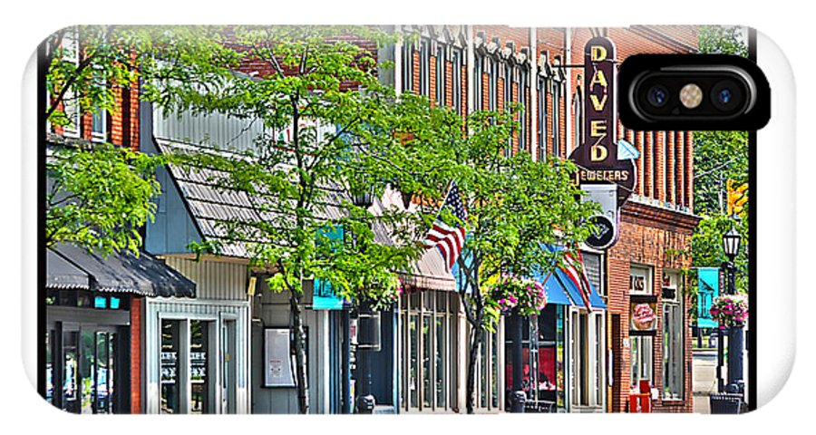 Downtown Willoughby Ohio IPhone X Case featuring the photograph Downtown Willoughby by Jack Schultz