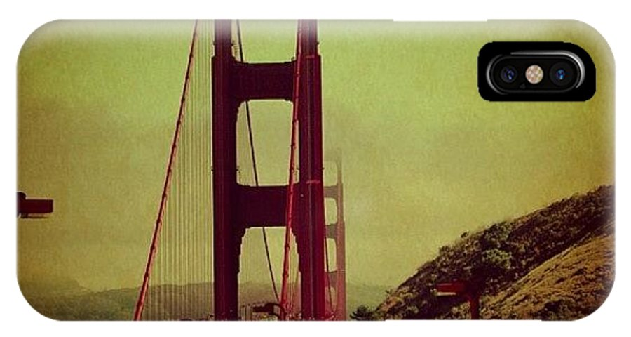Bridge IPhone X Case featuring the photograph Golden Gate by Luisa Azzolini