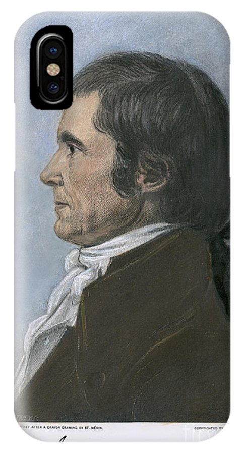 1808 IPhone X Case featuring the photograph John Marshall (1755-1835) by Granger