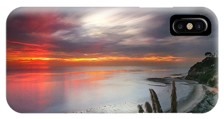IPhone X Case featuring the photograph Long Exposure Sunset At A North San by Larry Marshall