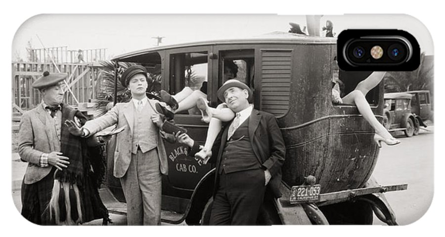 -transportation: Automobiles- IPhone X Case featuring the photograph Silent Film: Automobiles by Granger