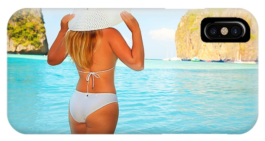 Maya Bay IPhone X Case featuring the photograph Woman On The Beach by MotHaiBaPhoto Prints