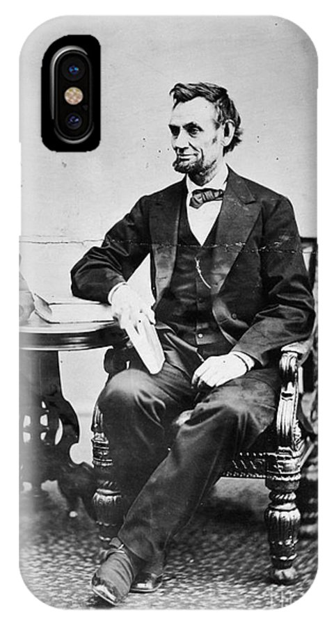 1865 IPhone X Case featuring the photograph Abraham Lincoln by Granger