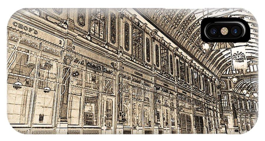 Leadenhall Market IPhone X / XS Case featuring the digital art Leadenhall Market London by David Pyatt