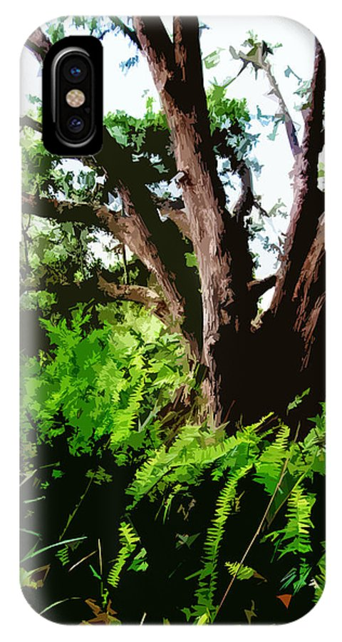 Nature IPhone X Case featuring the digital art Untitled by Russell Clenney