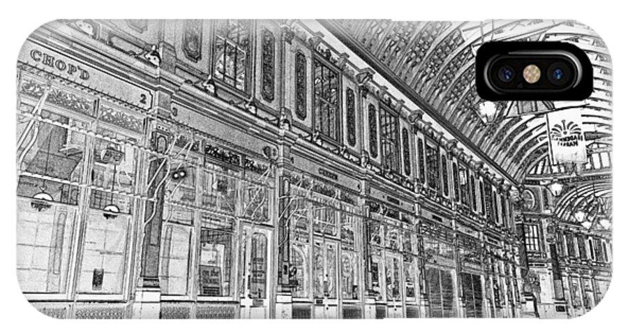 Leadenhall Market IPhone X Case featuring the digital art Leadenhall Market London by David Pyatt