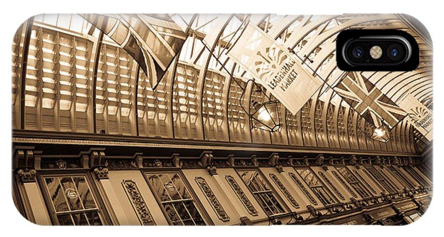 Leadenhall IPhone X / XS Case featuring the photograph Leadenhall Market London by David Pyatt