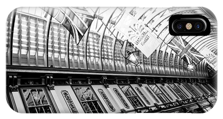 Leadenhall IPhone X Case featuring the photograph Leadenhall Market London by David Pyatt