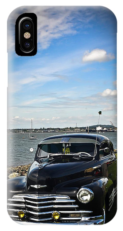 Bellingham Washington IPhone X Case featuring the photograph '47 Chevy By The Bay by Ronda Broatch
