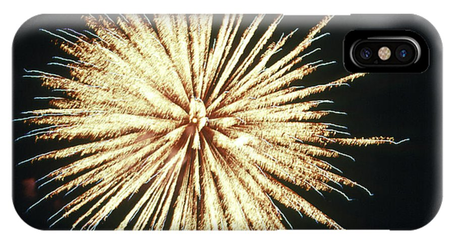 Firework IPhone X Case featuring the photograph 4th Of July Fireworks by Magrath Photography