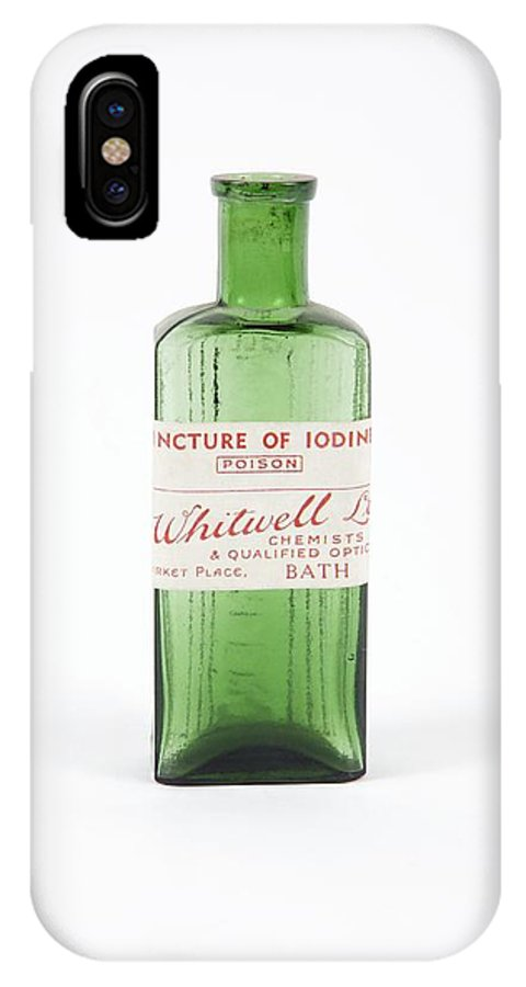Bottle IPhone X / XS Case featuring the photograph Antique Pharmacy Bottle by Gregory Davies, Medinet Photographics