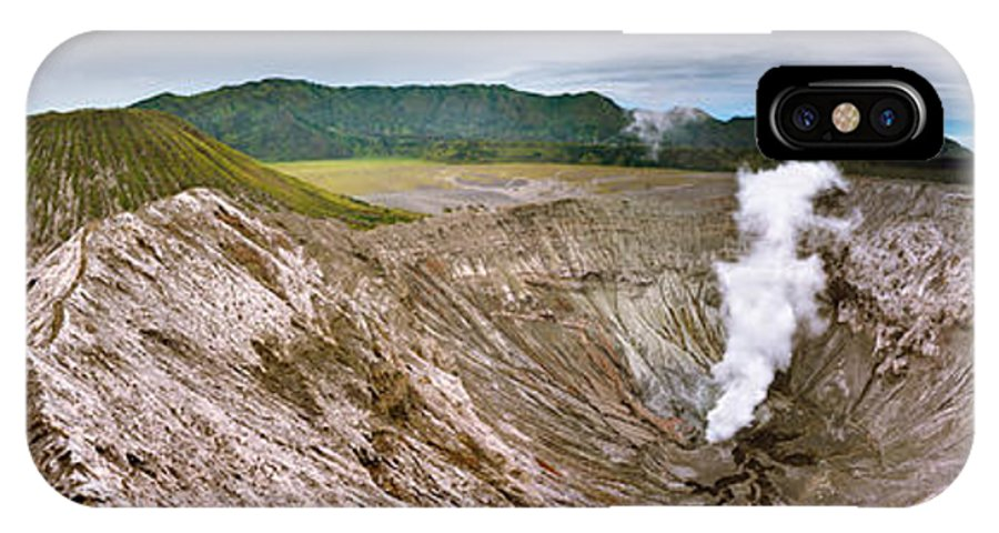 Crater IPhone X Case featuring the photograph Bromo Crater by MotHaiBaPhoto Prints