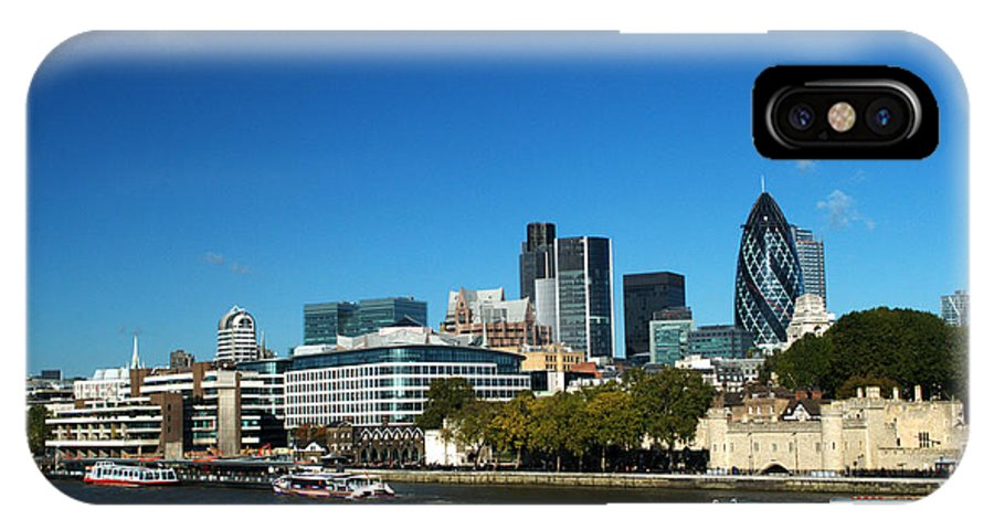 City Of London IPhone X Case featuring the photograph City Of London Skyline by Chris Day