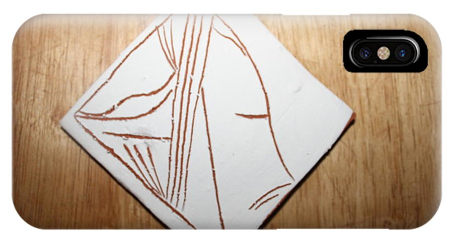 Jesus IPhone X Case featuring the ceramic art Dreams - Tile by Gloria Ssali