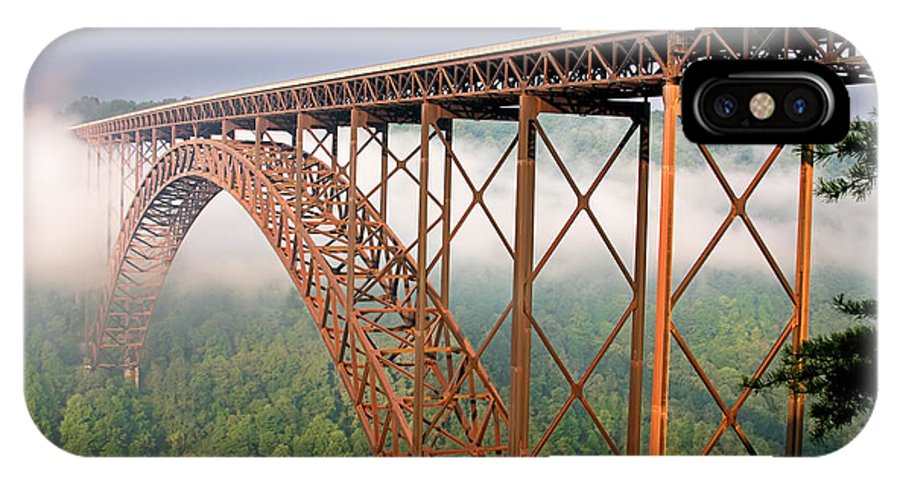 New River Gorge Bridge IPhone X Case featuring the photograph New River Gorge Bridge by Mary Almond