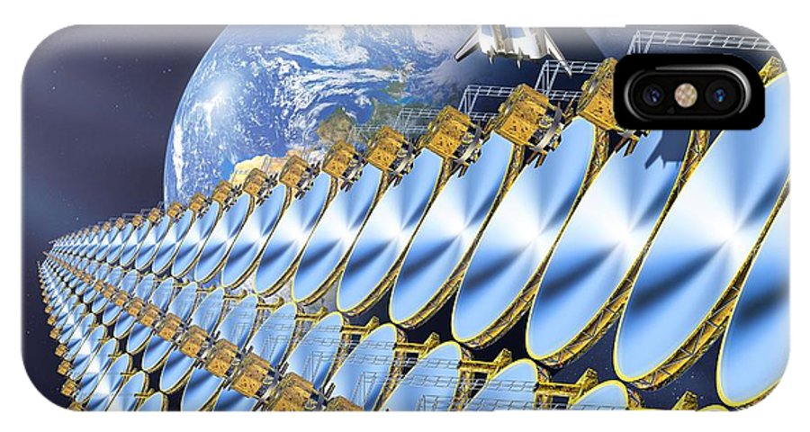 Earth IPhone X / XS Case featuring the photograph Solar Power Satellite, Artwork by Detlev Van Ravenswaay
