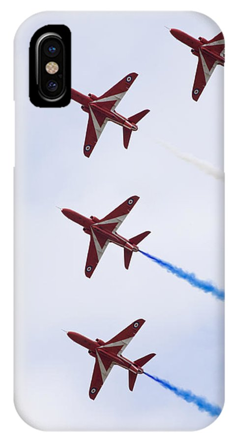 Red IPhone X Case featuring the photograph The Red Arrows by Ian Middleton