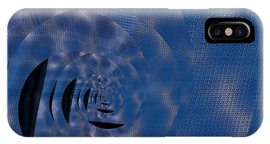 IPhone X Case featuring the digital art Twirling Shine by Mihaela Stancu