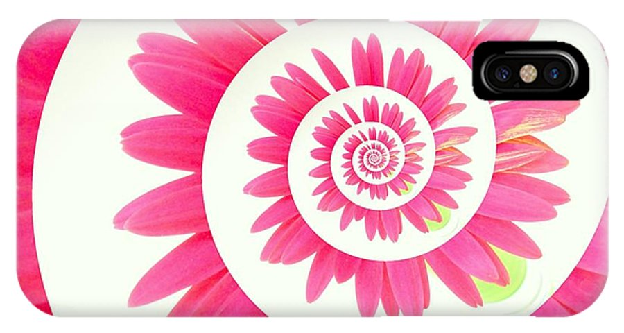 Gerbera Photographs IPhone X Case featuring the photograph 5419c3-003 by Kimberlie Gerner