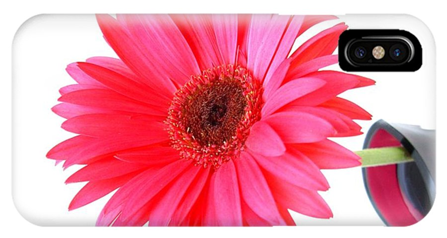 Gerbera Photographs IPhone X Case featuring the photograph 5634c4 by Kimberlie Gerner