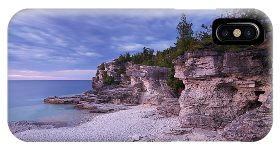 Georgian Bay IPhone X Case featuring the photograph Georgian Bay Cliffs At Sunset by Oleksiy Maksymenko