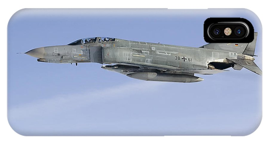 Germany IPhone X Case featuring the photograph Luftwaffe F-4f Phantom II by Gert Kromhout