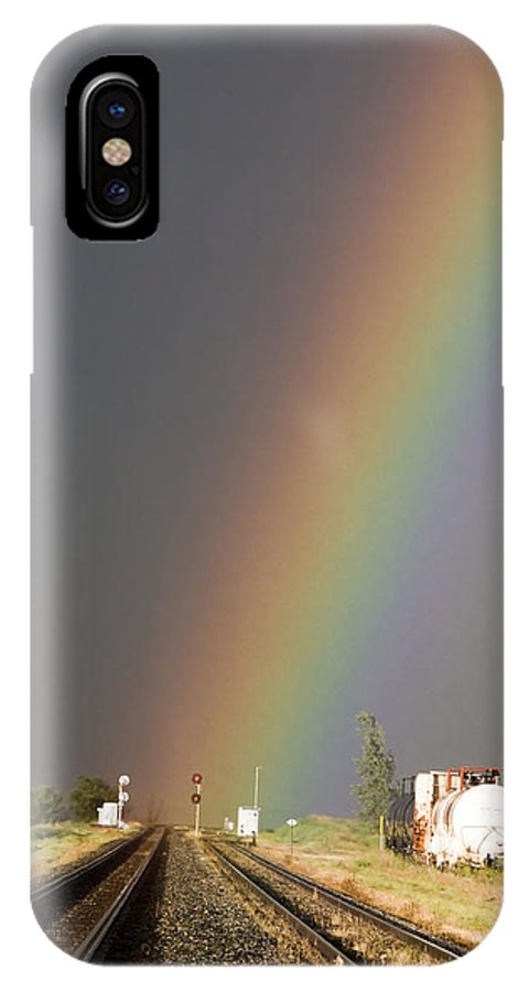 Storm IPhone X Case featuring the photograph Storm Clouds Saskatchewan by Mark Duffy