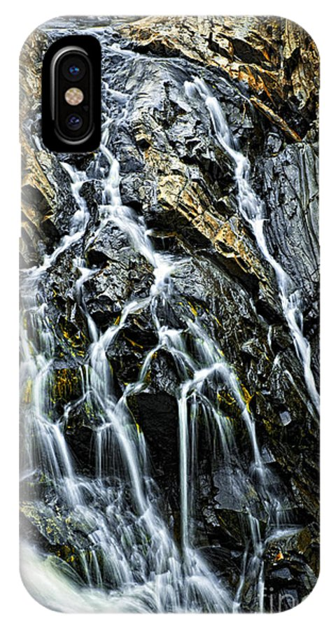 Waterfall IPhone X / XS Case featuring the photograph Waterfall by Elena Elisseeva