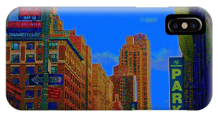 New York City IPhone X Case featuring the photograph 76th And Amsterdam by Susan Carella