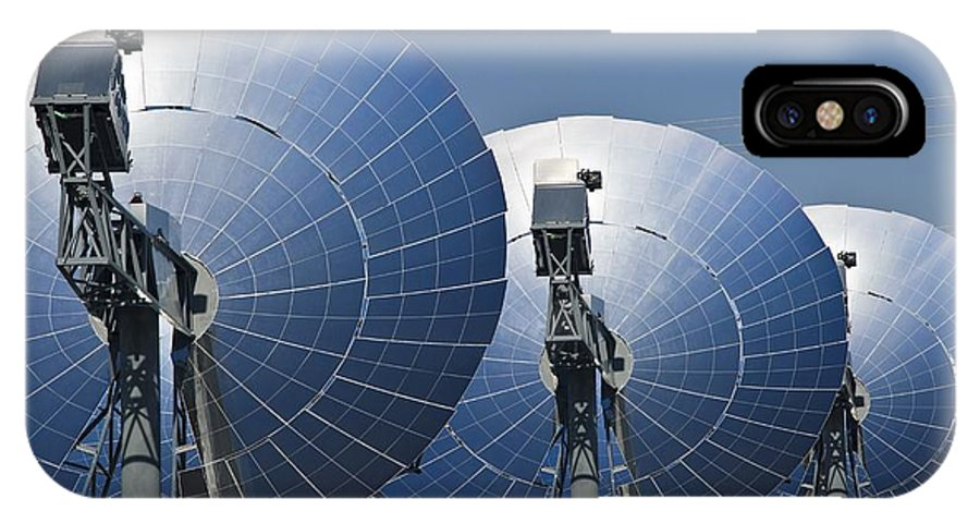 Suncatcher Solar Power Plant IPhone X / XS Case featuring the photograph Concentrating Solar Power Plant by David Nunuk