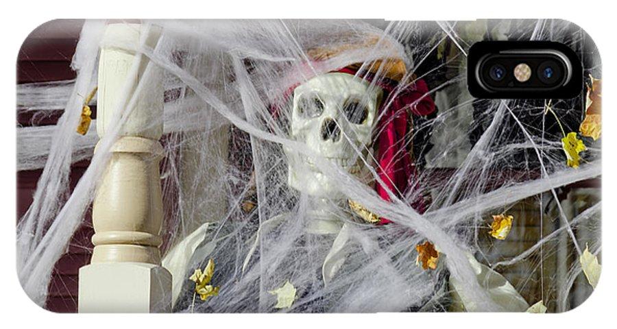 Autumn IPhone X Case featuring the photograph Fall Halloween On Tillson Street by LeeAnn McLaneGoetz McLaneGoetzStudioLLCcom