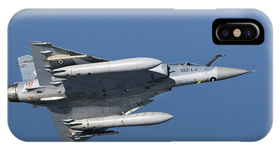 Transportation IPhone X Case featuring the photograph Mirage 2000c Of The French Air Force by Gert Kromhout