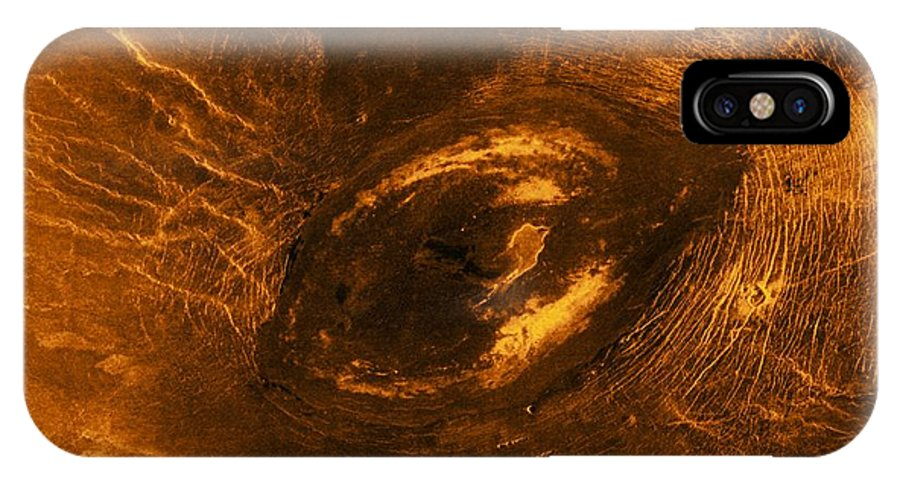 20th Century IPhone X / XS Case featuring the photograph Venus, Synthetic Aperture Radar Map by Detlev Van Ravenswaay
