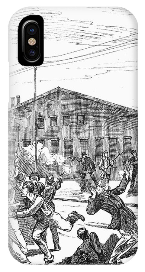 1877 IPhone X Case featuring the photograph Great Railroad Strike, 1877 by Granger
