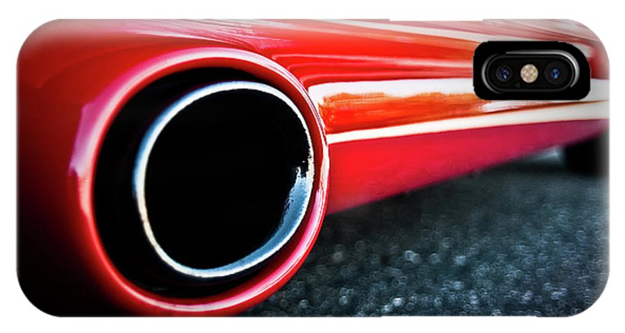 1994 Corvette IPhone X Case featuring the photograph 94 Vette Side Pipes by Onyonet Photo Studios