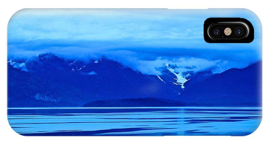 Alaska IPhone X Case featuring the photograph A Blue Slice Of Alaska Coast by Eric Tressler