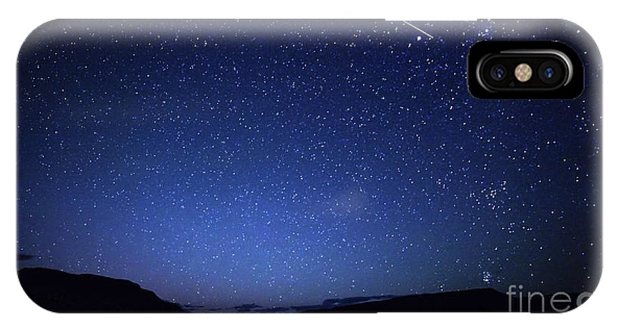 Bolide IPhone X Case featuring the photograph A Bright Sporadic Meteor by Luis Argerich