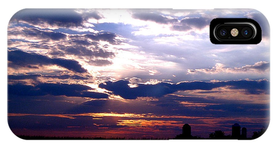 Clouds Sunset Cloudy Sun Sky Weather Evening Moody Light IPhone X Case featuring the photograph A Day To Remember by Vilas Malankar