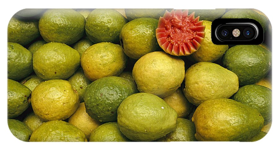 South America IPhone X / XS Case featuring the photograph A Display Of Guavas In An Open Air by Richard Nowitz