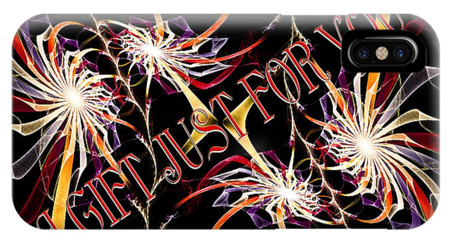 Fine Art Greeting Card IPhone X Case featuring the digital art A Gift For Just For You by Andee Design