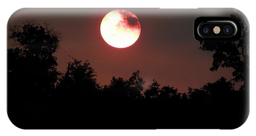 Sunset IPhone X / XS Case featuring the photograph A Partial Cover by Kim Galluzzo Wozniak