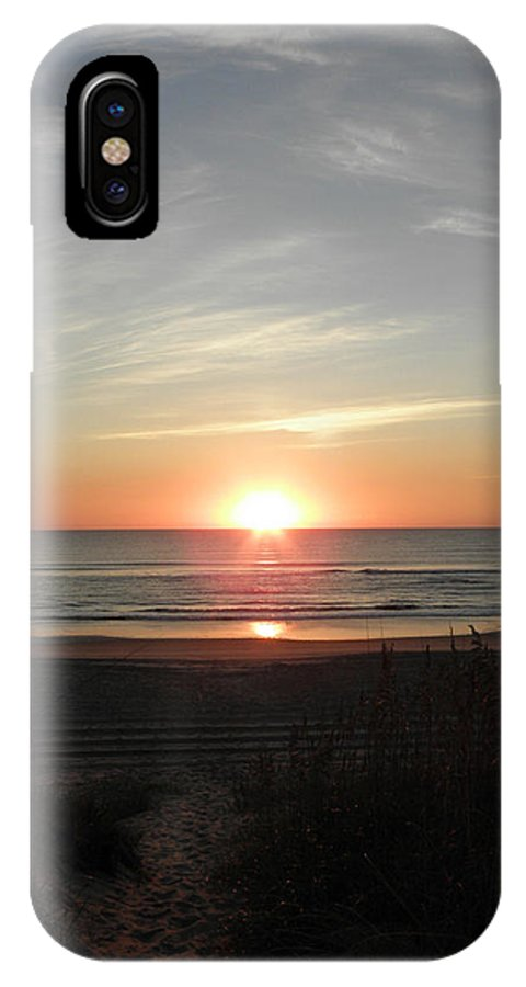 Sunrise IPhone X Case featuring the photograph A Path To The Rise by Kim Galluzzo Wozniak