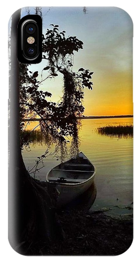 Landscape IPhone X Case featuring the photograph A Peaceful Sunset by Cheryl Matthew