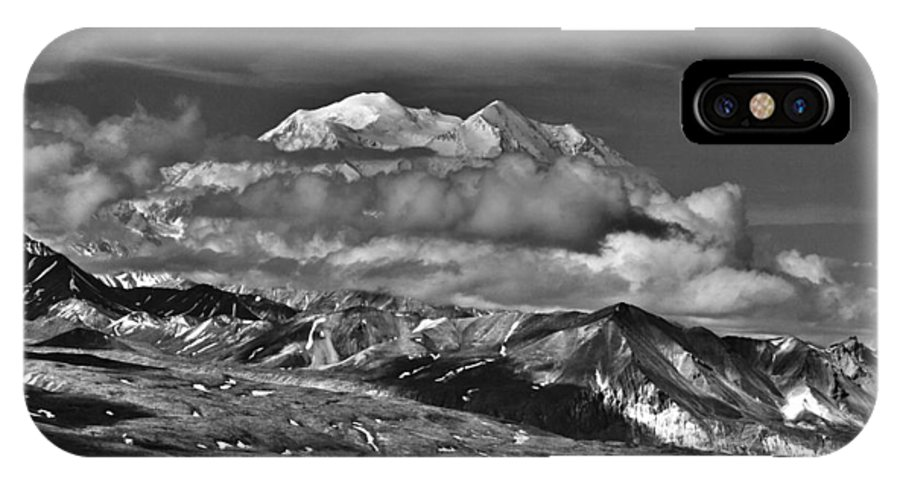 A Peek At Mckinley IPhone X Case featuring the photograph A Peek At Mckinley by Wes and Dotty Weber
