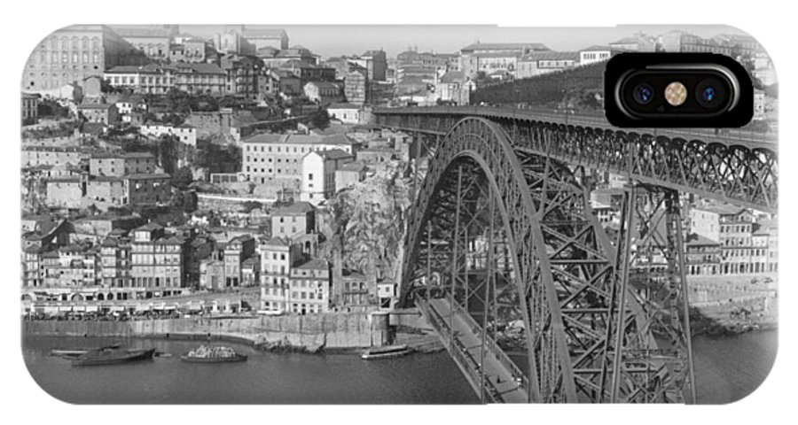 oporto IPhone X / XS Case featuring the photograph A Portion Of Porto And Its Large by W. Robert Moore