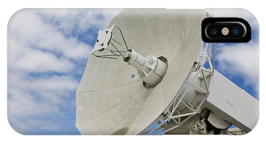 Pearl Harbor IPhone X Case featuring the photograph A Radar Dish Aboard Mobile At-sea by Stocktrek Images