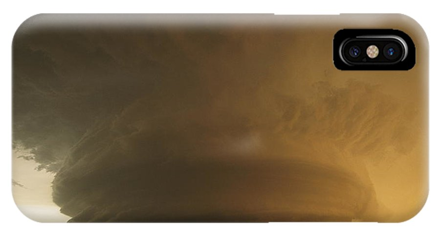 Outdoors IPhone X / XS Case featuring the photograph A Rare Mother Ship Cloud Formation by Carsten Peter