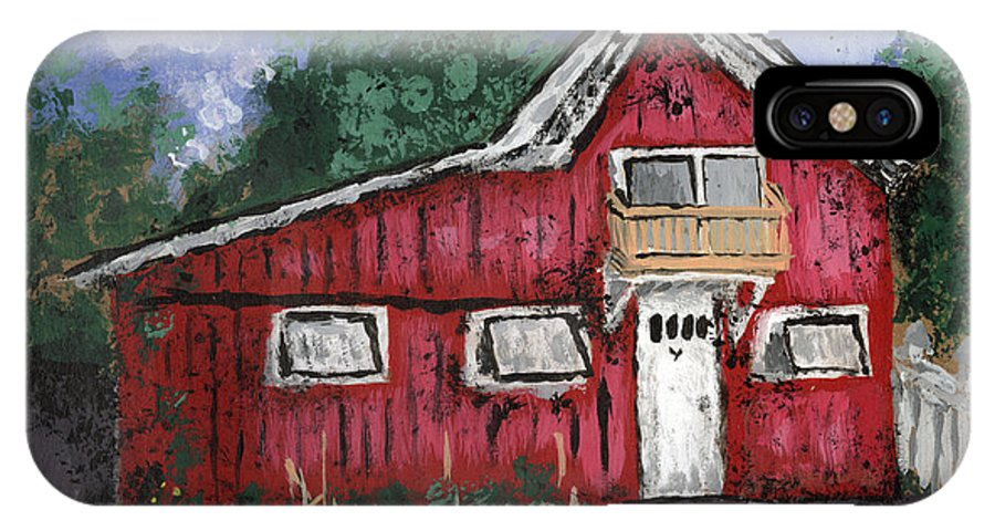 North Country IPhone X Case featuring the painting A Really Nice Apartment by Denny Morreale