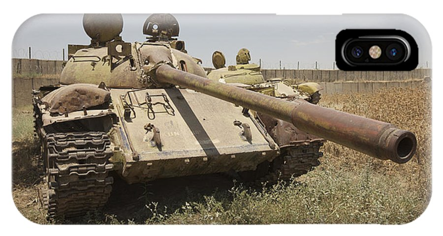 Cannon IPhone X Case featuring the photograph A Russian T-55 Main Battle Tank by Terry Moore